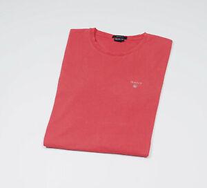 GANT-Herren-Koralle-Kurzarm-Rundhalsausschnitt-Top-T-Shirt-Groesse-Medium