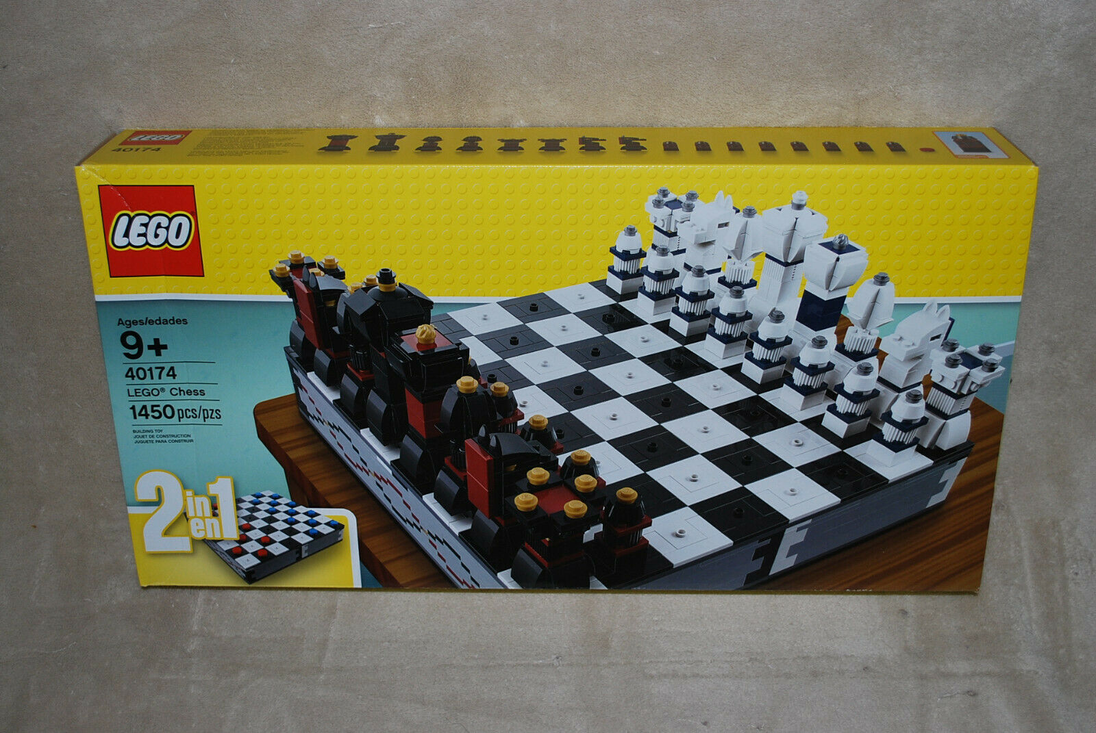 Very RARE Lego Chess Set # 40174 Sealed Special Edition NEW Draughts also