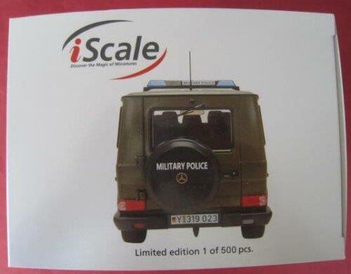 Mercedes-benz G-clase Military Police limitado 500 trozo iscale 1:18 nuevo