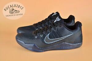 ab0701f4f488 Nike Kobe XI 11 Low Dark Knight Black On Black Cool Grey 836183-001 ...