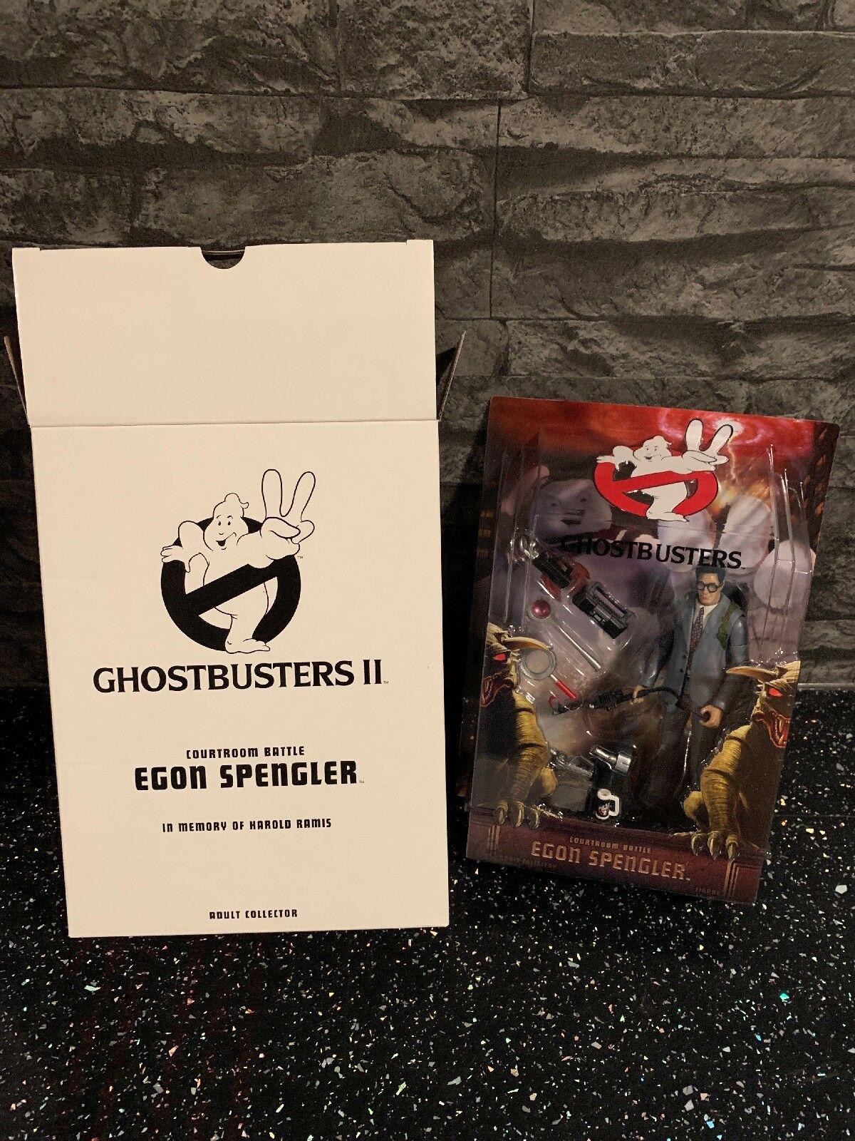 Matty Collector Ghostbusters Egon Spengler Tribunal batalla coleccionista adulto NUEVO