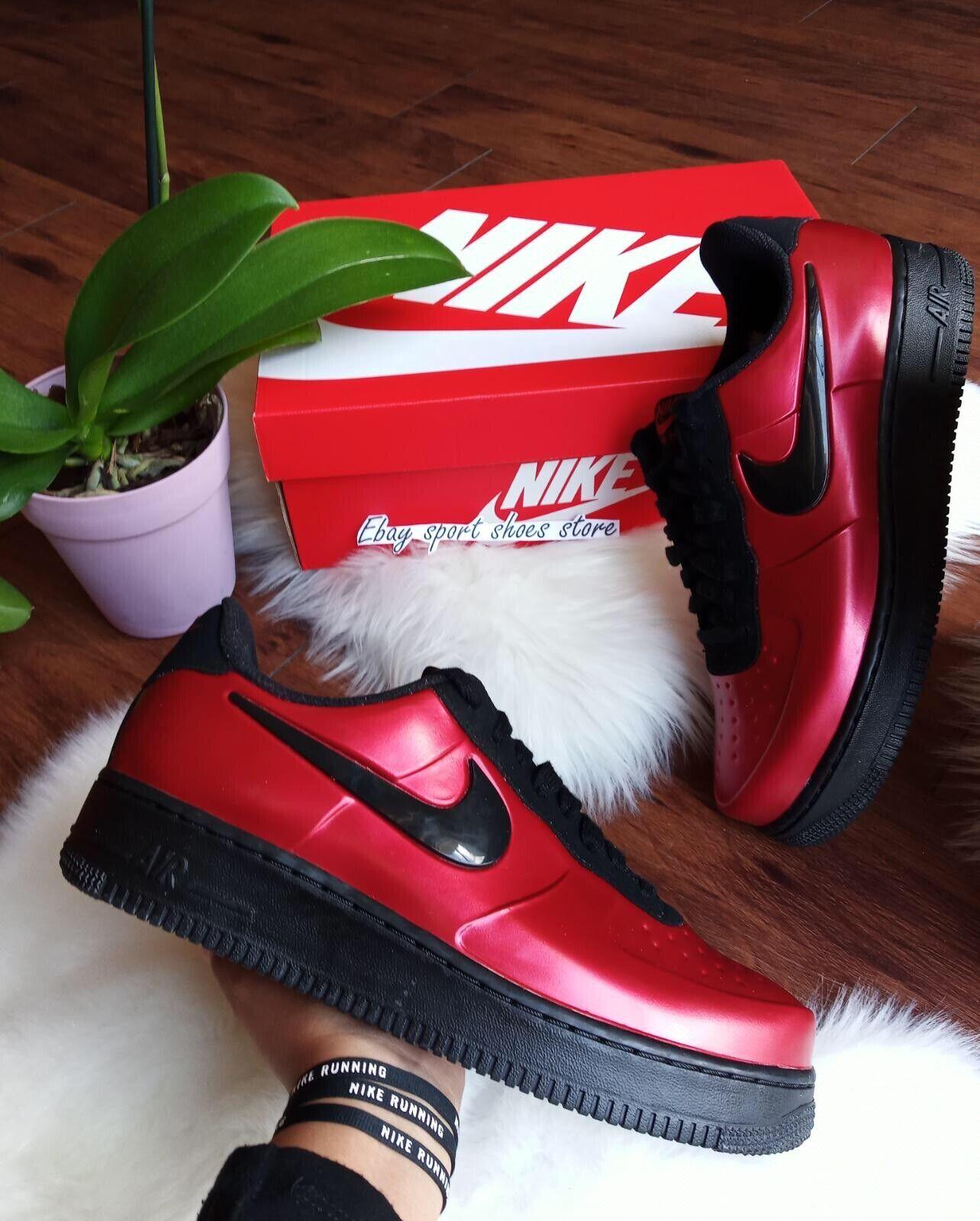 Tamaño 8.5 AR1 para Hombre Nike Foamposite Pro Copa Gimnasio Rojo Negro AJ3664 601 correr
