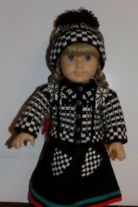 NEW Pleasant Company 1989 AMERICAN GIRL KIRSTEN HAND KNIT WOOLENS~Sweater Doll