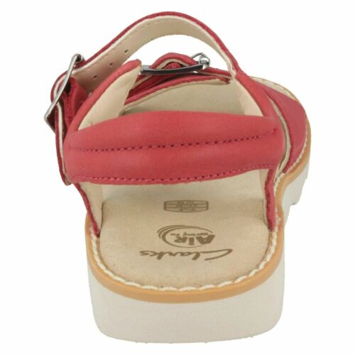 CROWN BLOOM GIRLS CLARKS LEATHER BUCKLE SLINGBACK CASUAL SUMMER SANDALS SIZE