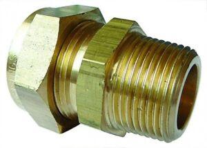 WA-7071-Waten-Messing-Stecker-Stud-Kupplung-Rohr-Od-1-3cm-X-Bspt-Gewinde