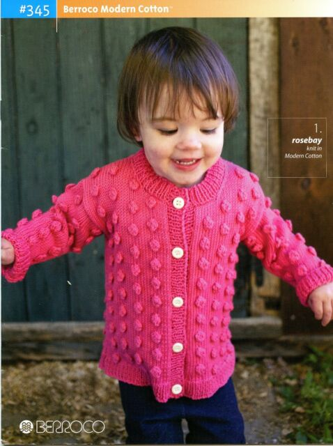 Berroco Modern Cotton Knitting Pattern Book 345 Baby Boys Girls