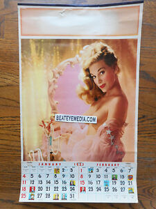 VINTAGE-CALENDAR-BETTIE-PAGE-PHOTO-BONDAGE-PINUP-NUDES-PLAYBOY-MOVIE-POSTER