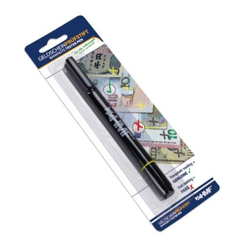 HMF Geldscheinprüfstift, Geldschein Schnelltester inkl. Kugelschreiber, 2 in 1