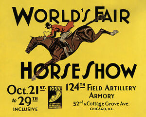 World/'s Fair Horse Chicago Paul Brown 16X20 Vintage Poster FREE S//H in USA