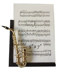 """Saxophone Musical Instrument Picture Frame 5"""" x 7"""""""