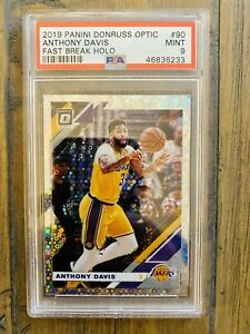 Anthony-Davis-2019-Panini-Donruss-Optic-Fast-Break-Holo-Psa-9-Lakers