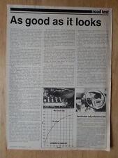 CITROEN CX 2400 GTI orig 1977 UK Mkt Autosport Road Test Leaflet Brochure