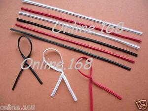 Plastic-Coated-Wire-Ties-Twist-Ties-4-034-100mm-Blk-W-Rd