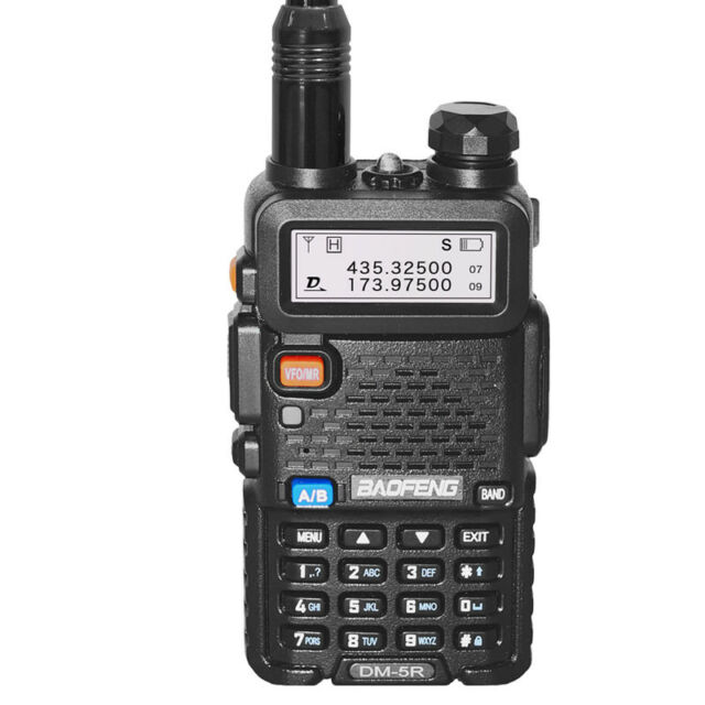 2018 Baofeng DM-5R Tier II DMR Digital Two Way Radio V/UHF 2 Band Walkie  Talkie
