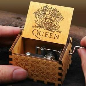 Hand-Crank-Wooden-Engraved-Queen-Music-Box-Kids-Christmas-Gift-64-52mm