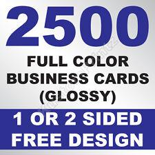 2500 CUSTOM FULL COLOR BUSINESS CARDS | 16PT | GLOSSY UV FINISH | FREE DESIGN