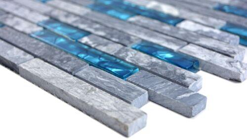 Mosaïque Carreau Translucide Gris Composite Glasmosaik Crystal87-0404/_f10 nattes