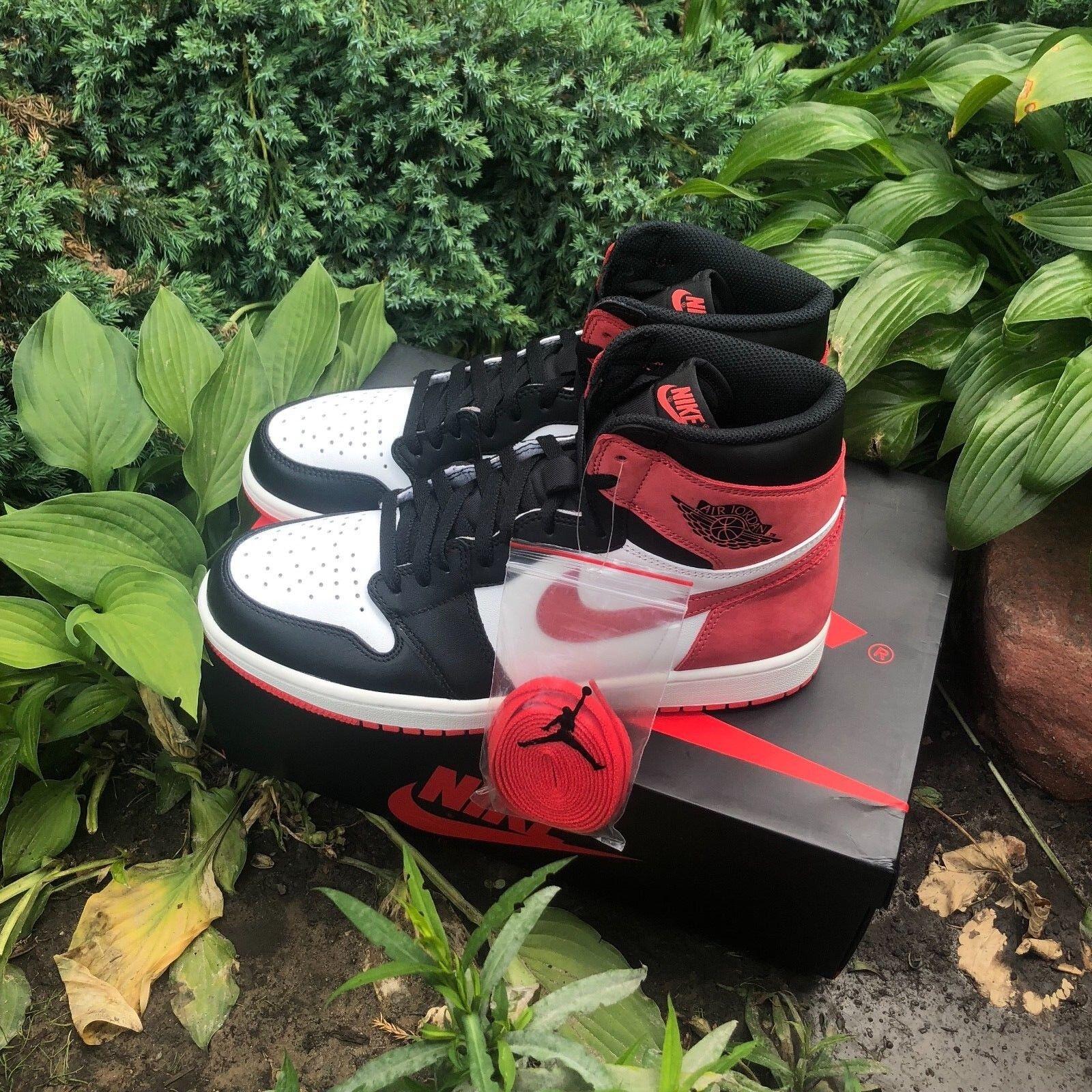 Nike Air Jordan 1 Retro High OG Best Hand Hand Hand In Game 6 Rings TRACK RED 555088-112 2648ed