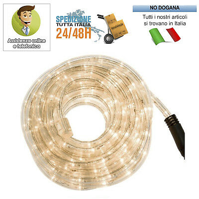 Tubo led luminoso 10 mt luci natale bianco multicolor rgb for Luci a tubo led