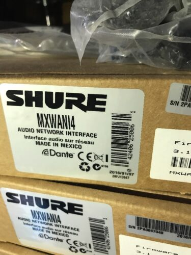 Shure Microflex Wireless 4 Channel Audio Network Interface MXWANI4 Free Shipping