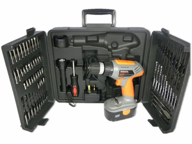 Terratek 18V Cordless Power Drill with 68Pcs Accessory Kit