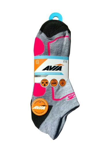 AVIA LADIES Cushioned Performance Low Cut Sock 6-PAIR Fit Shoe Size 5-9    NEW!!