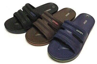 Mens Slip On Sport Slide Sandals Flip Flop Shower Shoes Slippers House Pool Gym