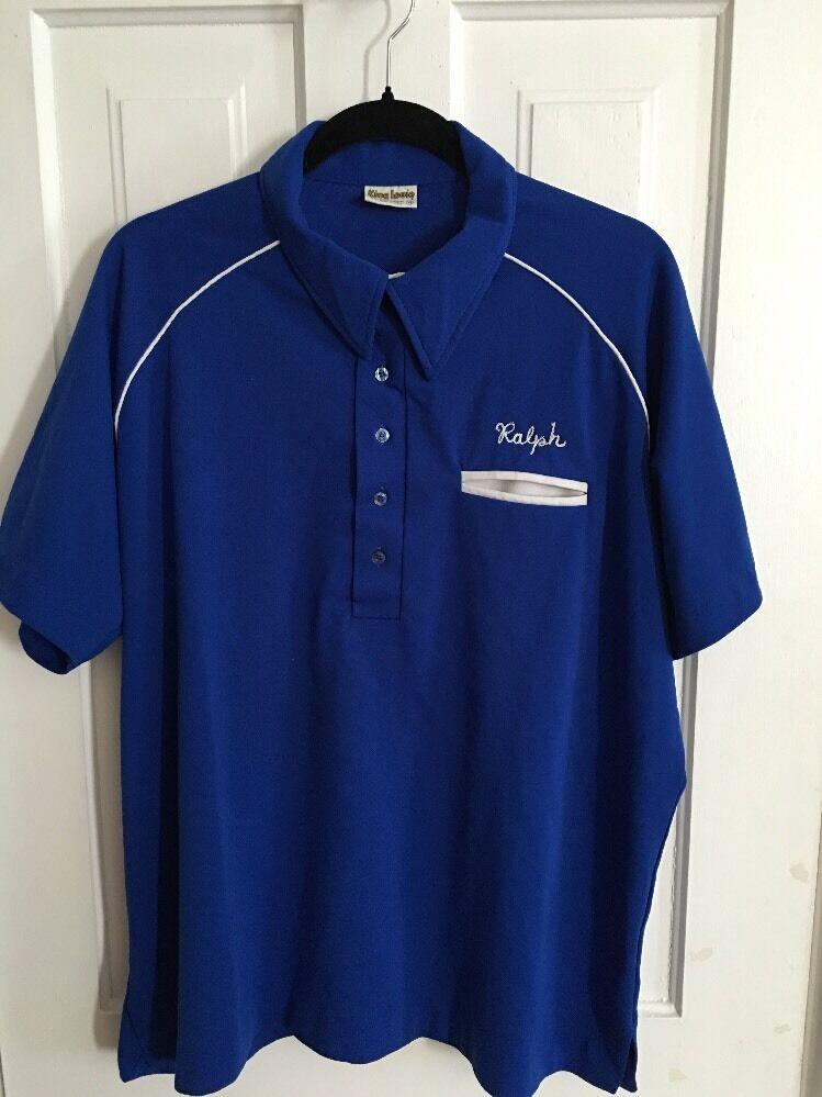 COOL  King Louie Men's Bowling Shirt Ralph Lefties Get All The Breaks USA Sz XL