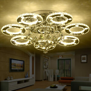 Ceiling Light Modern Crystal Lamp Chandelier Living Led Room Yb7Igyf6v
