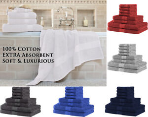 100% Cotton skin friendly 8 piece towel Set 2Bath Towel 2Hand Towel 4Face Washer