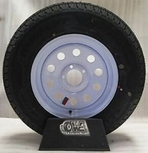 Radial Trailer Tire On Rim ST205//75R15 205//75-15 15 5 Lug Wheel Galvanized Spoke