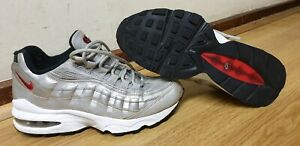 NIKE-AIR-MAX-95-QS-GS-argent-BULLET-Baskets-Homme-Taille-UK-4-EU-36-5