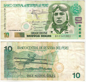 174-Peru-2001-10-Nuevos-Soles-BC-Fine