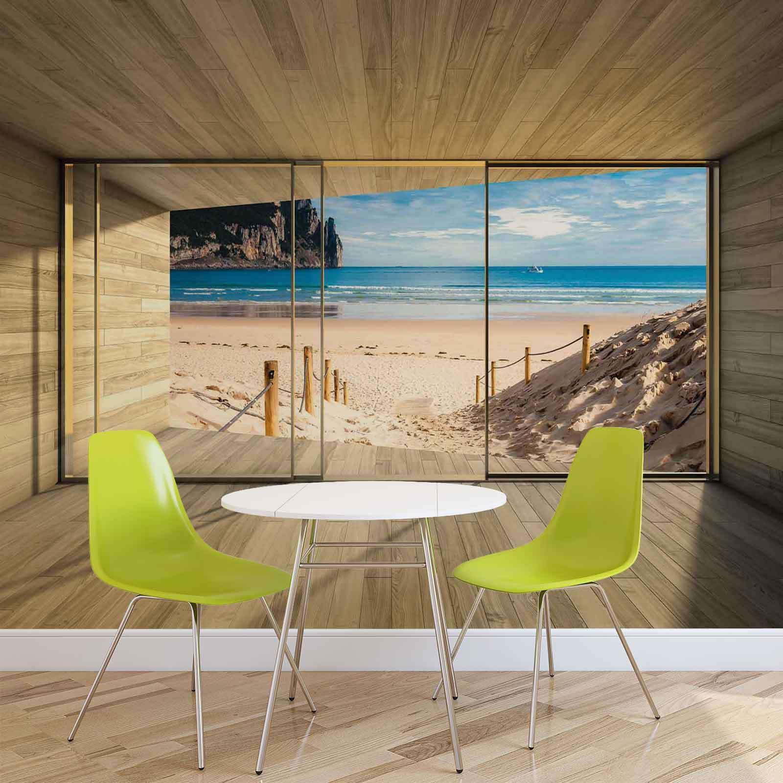 WALL MURAL PHOTO WALLPAPER XXL Window Path Beach Sand Nature  (3308WS)