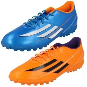 online store 972d2 fa713 Image is loading Mens-Adidas-F5-TRX-TF-Football-Soccer-Trainers