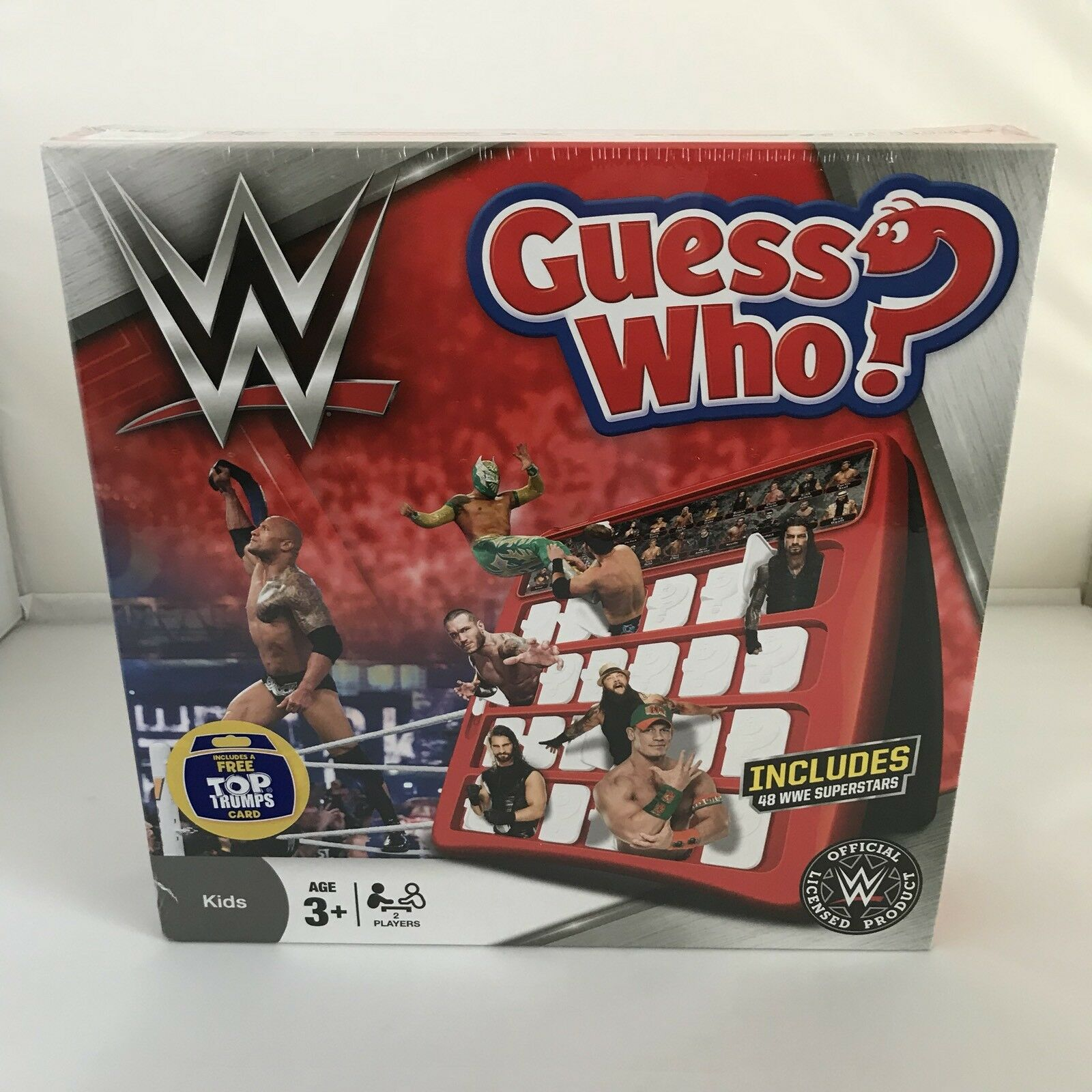 New & Sealed Official WWE Guess Who Game 48 WWE Superstars BOX DAMAGE