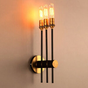 Retro brassblack rotating elongated torch wall light sconce home image is loading retro brass amp black rotating elongated torch wall aloadofball Images