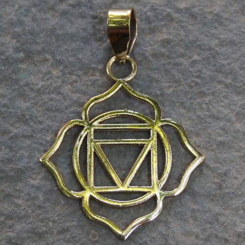 Chakra Pendentif Cuivre Yoga Bijouterie Spirituel Soin Collier Reiki Sacred Fol