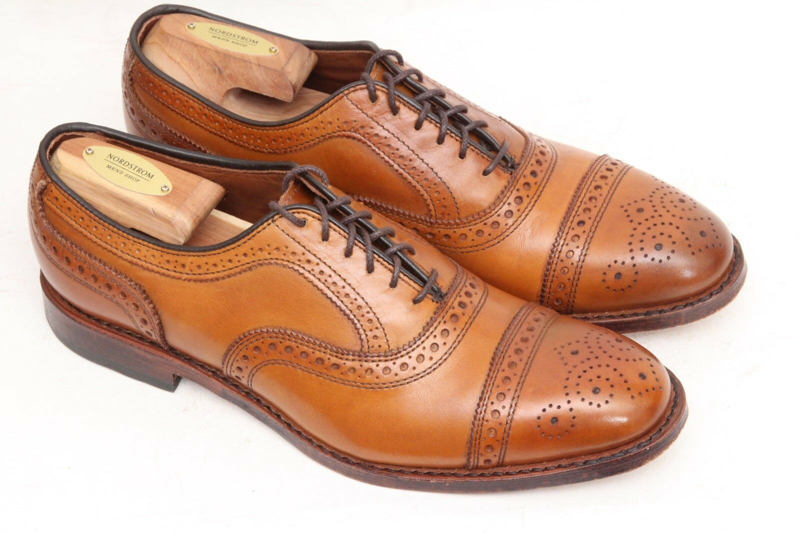 Allen Edmonds Strand Cap-Toe Oxford Brown Walnut 1635 Size 7.5 D