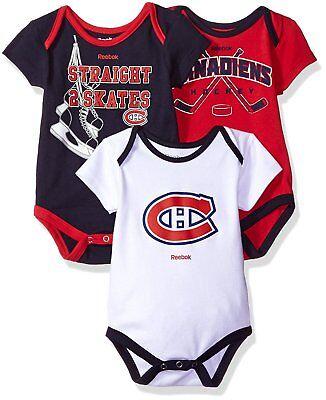 Reebok Montreal Canadiens 3pc Baby Creeper Bodysuit Set