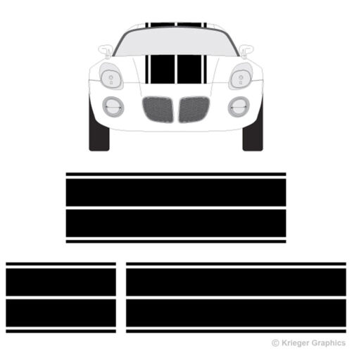 Pontiac Sunfire or Solstice Dual Rally Racing Stripes 3M Vinyl Stripe Decals