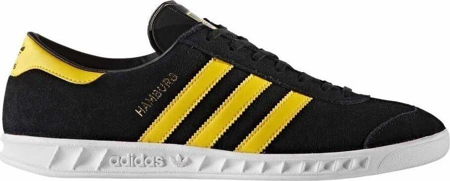 Adidas Hamburg ++++ RARE++++ 10.5 BLACK SUEDE / YELLOW STRIPE  NEW spezial samba