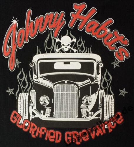 hot rod dragster Biker pinup v8 skull Custom T-shirt #513 Johnny habit/'s