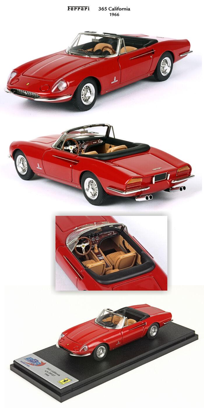 Ferrari 365 California S N 09127 1966 rojo 1 43 BBR255A BBR Made in