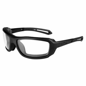 0dc80f424366 Image is loading Wiley-X-Wave-Sunglasses-Clear-Lens-Matte-Black-
