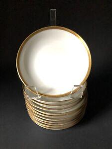11-5-034-Charles-Ahrenfeldt-Limoges-034-Wedding-Ring-Gold-Trim-034-Fruit-Dessert-Bowls