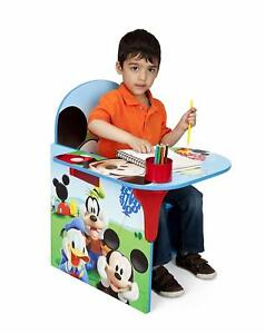Stupendous Details About Childrens Desk Chair Fabric Storage Bin Cup Holder Disney Mickey Mouse Kids Short Links Chair Design For Home Short Linksinfo