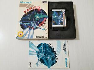 MSX Game Gradius ( Nemesis ) Konami 1986 RC742 b Japan 0609A25