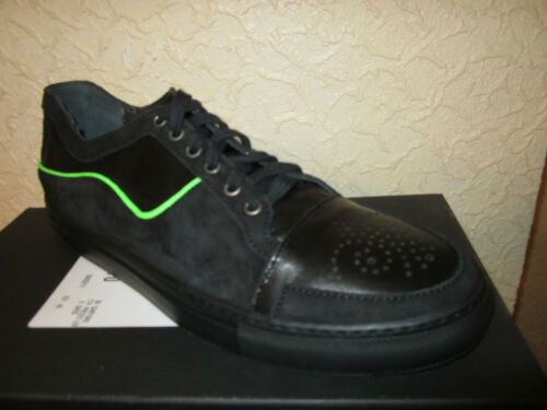 suede Hommes Black Leather Trainers Les tY08ztq