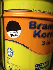 Brantho Korrux 3in1 Rostschutz & Metallschutzfarbe schwarz 9005  5l